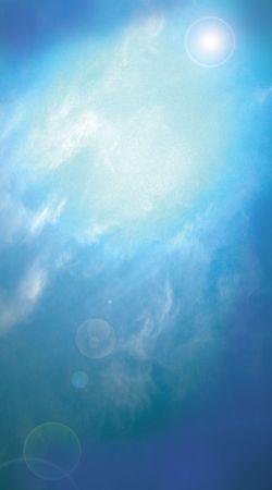 Dramatic blue sky background