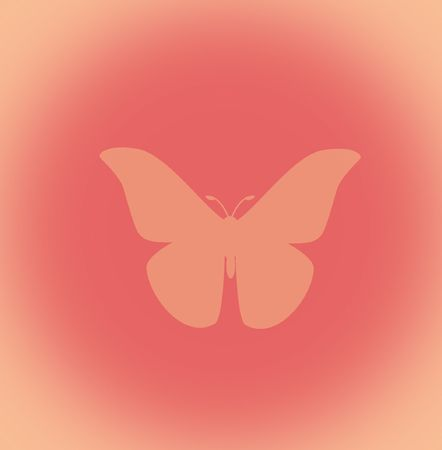 Butterfly design on peach background Stock Photo
