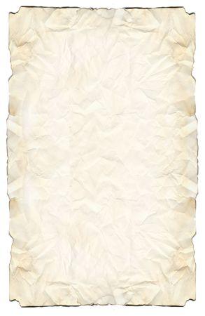bounty: Papel de pergamino con una mirada amarilleada y bordes quemados.
