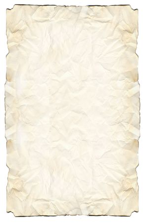 bounty: Parchment paper with a yellowed look and burnt edges.