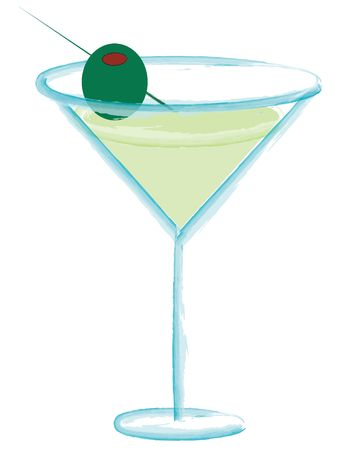 high spirits: Martini with olive
