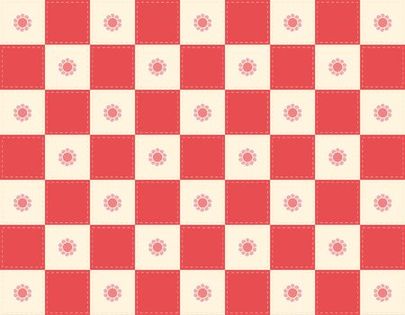 Red Checkered quilt background Stock Photo - 390218