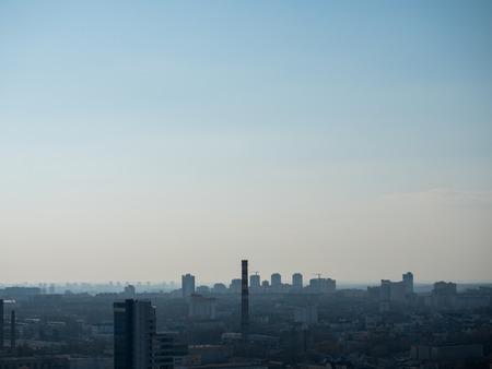 City from Birds Perspective. Minsk, Belarus. Stock Photo