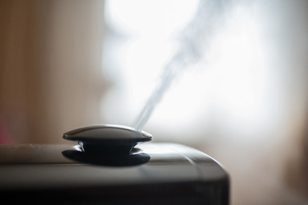 Vapor from humidifier in the morning light in a living room. Фото со стока