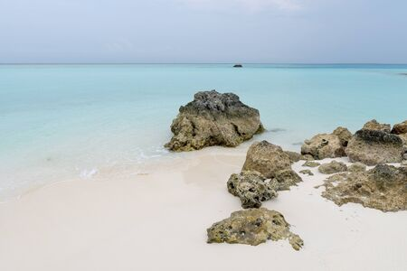 Stones on the shore of a tropical island. Stock Photo