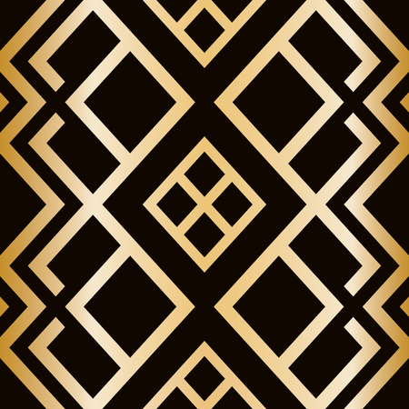 Art Deco style seamless pattern. abstract geometric texture. Illustration