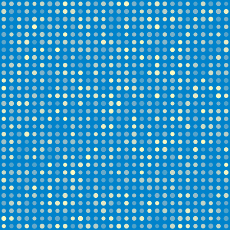 multiples: Blue pattern of multiples dots. Fashion trends circles background. Vector illustration. May use for modern paper, textile , background, digital, website template, wallpaper Illustration