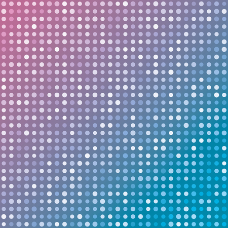multiples: Blue and pink gradient background of multiples dots. Fashion trends circles backdrop. Vector illustration. May use for modern background, digital, website template...