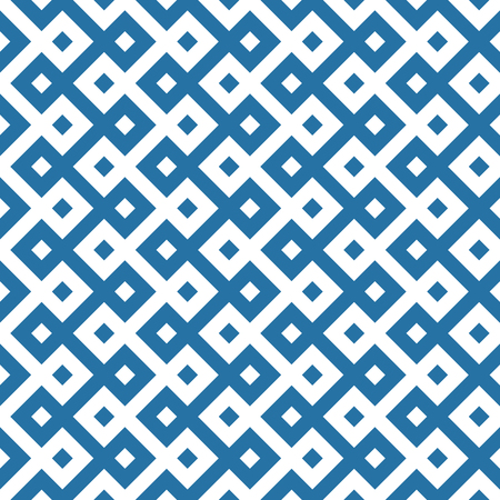 monochromatic ethnic seamless background. checkered textures in blue and white colors. vector illustration