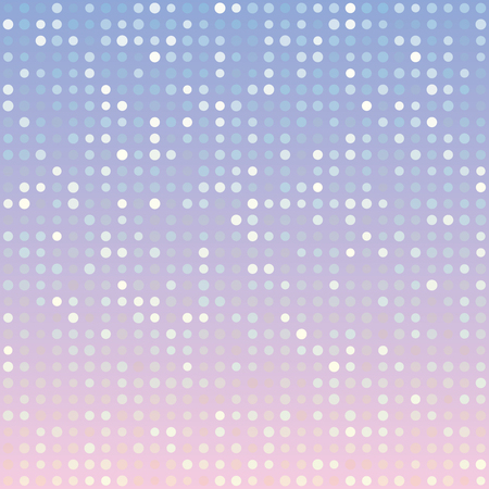 multiples: Blue serenity and pink rose quartz gradient background of multiples dots. Fashion trends circles backdrop. Vector illustration. May use for modern background, digital, card, posters, website template Illustration