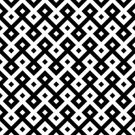 monochromatic ethnic seamless background. checkered textures in black and white colors. vector illustration