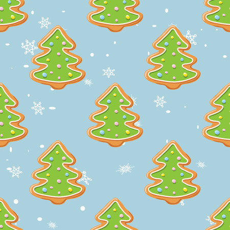 Christmas gingerbread pattern.