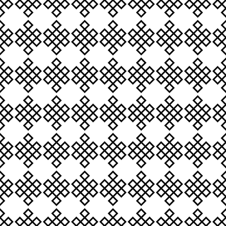 Seamless pattern of triangles. Black and white ethnic background.