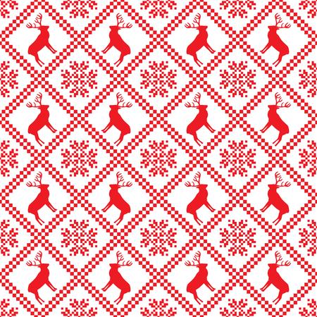 Traditional scandinavian pattern.