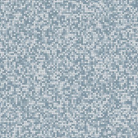 Melange Knitting Seamless Texture. Decorative Pattern Background. Vector Illustration Illustration