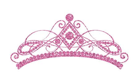 Glittering Diadem of Golden tiara isolated on black background Vector illustration