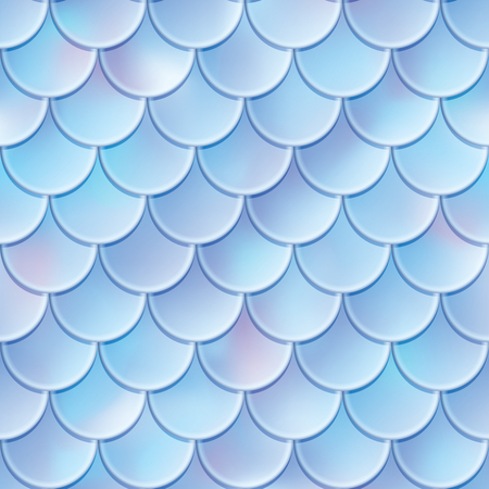 Fish scales seamless pattern. Mermaid tail texture. Vector illustration. Print design for textile, posters, greeting or child birthday cards, kids designs etc.