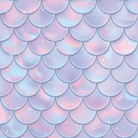 Écailles de poisson modèle sans couture. Texture de queue de sirène. Illustration vectorielle. Conception d'impression pour textile, affiches, cartes de voeux ou d'anniversaire pour enfants, dessins pour enfants, etc. Vecteurs