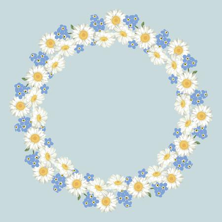 Floral Round frame design Reklamní fotografie - 99945307