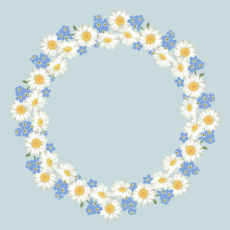 Floral Round frame design
