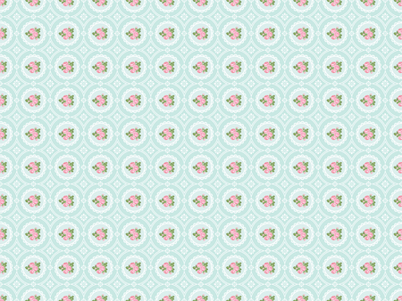 Shabby chic rose seamless pattern background. illustartion.