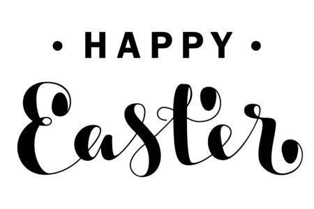 Happy Easter lettering. Vector illustration. For greeting cards, posters and banners