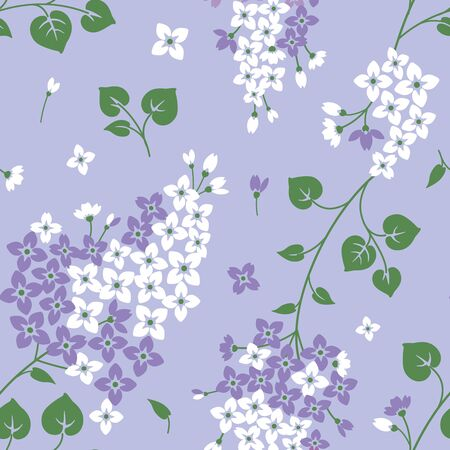 Seamless pattern with lilac flowers. Floral backgorund Иллюстрация