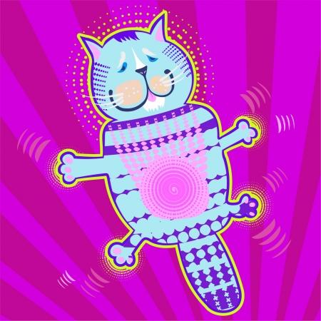 tans: flying cat Illustration