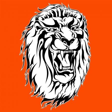 roaring lion tattoo Stock Vector - 21014881