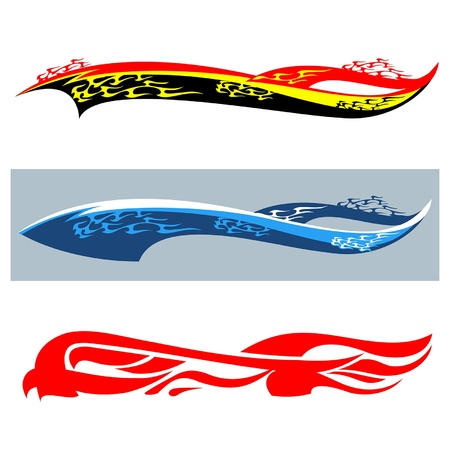 Car stickers flame Vector