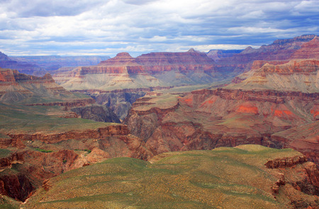 kaibab trail: Amazing relief background in the Grand Canyon National Park, Arizona, USA. View from Kaibab trail, South Rim. Nature background. Hiking in the Grand Canyon.