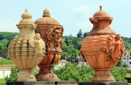 troya: Troya the terracotta vases of lock  Prague Stock Photo