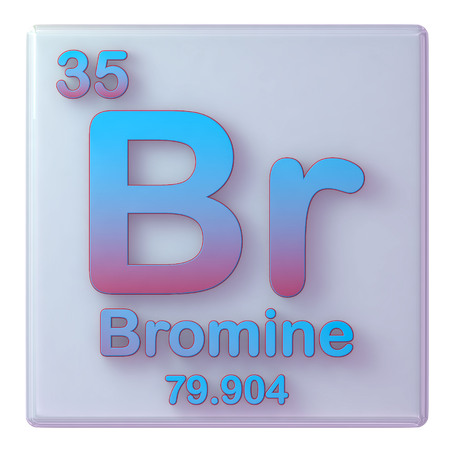 Bromine Chemical Element Number 35 Of The Periodic Table 3d