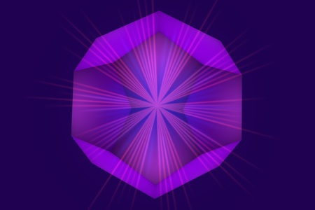 Dodecahedron. Magic crystal, an element of ether. Platonic body of equilateral pentagons. Technology background, 3d illustration