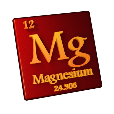 Magnesium, chemical element number 12 of the periodic table of the elements. 3d illustration Stock Photo