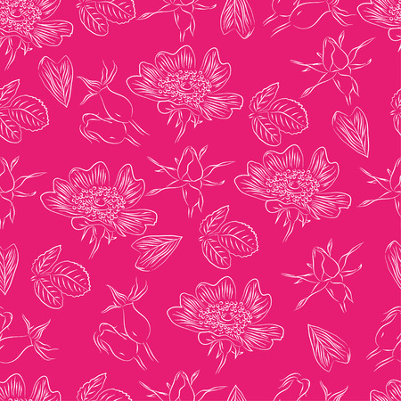 briar: Seamless pattern with line briar on bright background