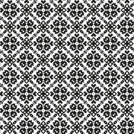 folksy: Seamless pattern witn ethnic ornament geometric flowers