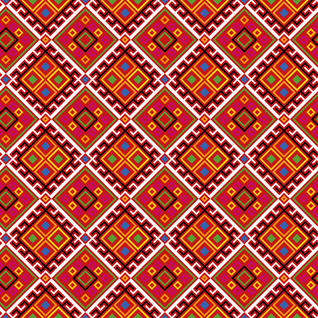 folksy: Seamless ethnic pattern for multipurpose use: wallpaper, paper, wrapping, textile, print, web background etc. Illustration