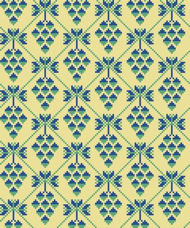 folksy: Seamless pattern
