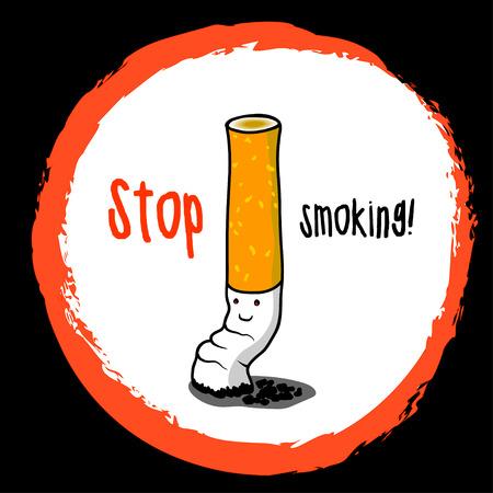stop smoking: Stop smoking illustration