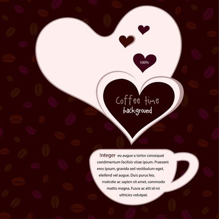fond caf�: Coffee background
