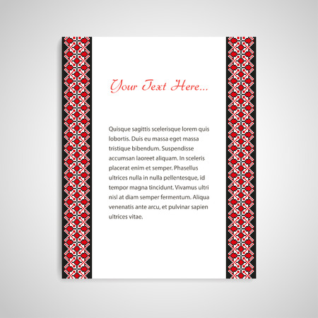 gestickt: Document Form mit ukrainischen bestickten Borten