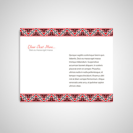 embroidered: Document form with ukrainian embroidered borders