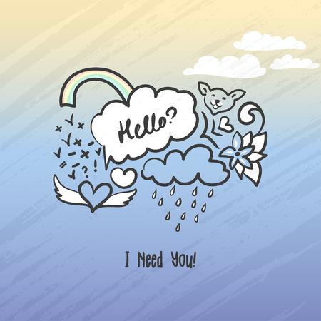hello heart: Set of doodles