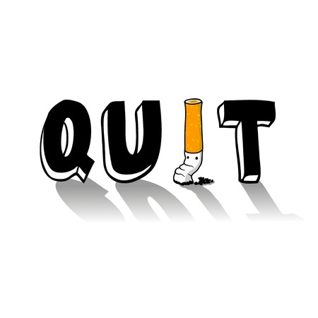quit: Quit smoking illustration
