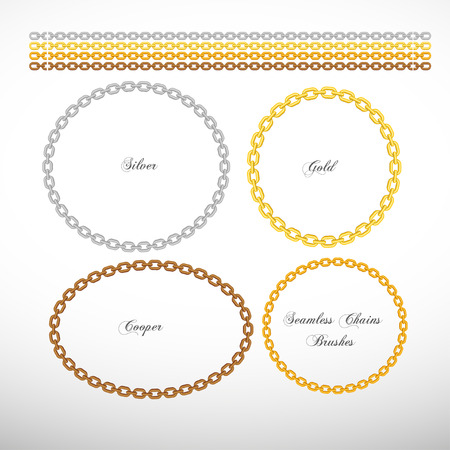 Seamless chains Vector