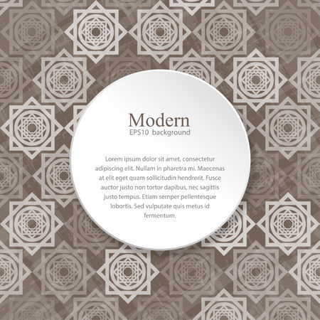 arabic style: Modern background with interlocking elements