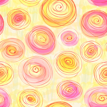 buttercups: Seamless pattern with stylized buttercups