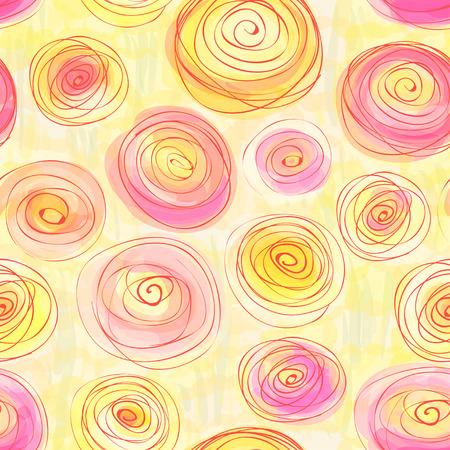 Seamless pattern with stylized buttercups