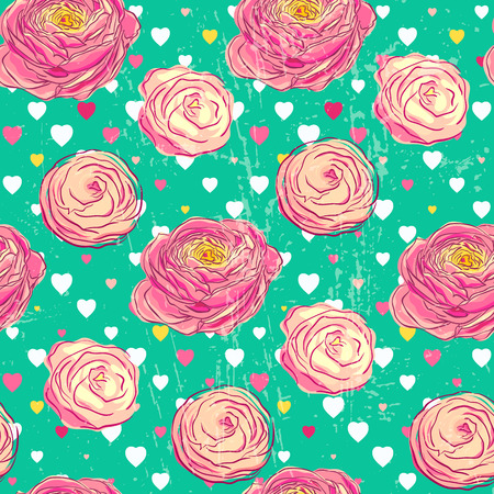 buttercup  decorative: Seamless pattern with blooming flowers